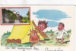 CPA LOT CENEVIERES On Est Vachement Bien Au Camping De Cénevières - Humour