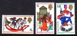 GREAT BRITAIN GB - 1968 CHRISTMAS SET (3V) FINE MNH ** SG 775-777 - Unused Stamps