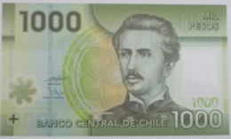 CILE 1000 PESOS 2010 P-161a UNC POLYMER - Chile