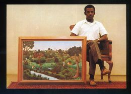 Haiti. *Joseph Jean Giles Et Son Ouvrage D'art Dans La Galerie Nader* Nueva. - Ansichtskarten