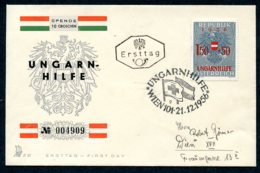 Austria, 1956, Aid For Hungarian Refugees, FDC, Michel 1030 - Unclassified