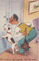 CPSM HUMOUR Madame Qui Regarde Dans Les Poches à Monsieur...Quel Toupet! - Humour