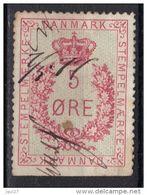 Danemark Timbre Fiscal 5 Ore 1877 - Fiscali