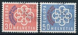 Schweiz / Suisse - Zumstein 349-350 - Michel 681-682 - Mit ET-Eckstempel - Usati