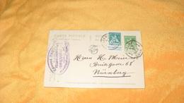 CARTE POSTALE ANCIENNE DE 1913.../ EDMOND THET ?..VILLA BEAUMONT..ESNEUX LIEGE..POUR NURNBERG ..CACHETS LIEGE + TIMBRES - Belgium