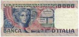 50000 LIRE BANCA D'ITALIA VOLTO DI DONNA 11/04/1980 BB/SPL - [ 2] 1946-… : Repubblica