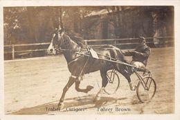 "COURSES- TRABER "" GIRIGARI"" FAHRER BROWN - CARTE-PHOTO - Hípica"