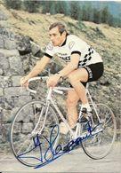 CARTE CYCLISME YVES HEZARD SIGNEE TEAM PEUGEOT 1979 - Wielrennen