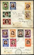 G10-169 CITTÀ DEL VATICANO 1946 Due Raccomandate Affrancate Con Serie Completa Concilio Di Trento, Annullo Di Arrivo, Ot - Vatican