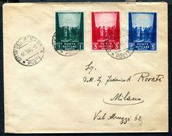 G10-130 CITTÀ DEL VATICANO 1946 Lettera Affrancata Con Opere Di Carità, 3a Emissione, Serie Completa, Annullo Di Arrivo, - Vatican