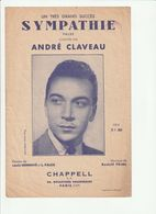 PARTITION SYMPATHIE Valse Chantée Par ANDRE CLAVEAU En 1937 - Spartiti