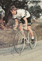 CARTE CYCLISME HENNIE KUIPER SIGNEE TEAM PEUGEOT 1979 - Wielrennen