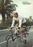 CARTE CYCLISME BERNARD THEVENET SIGNEE TEAM PEUGEOT 1979 - Wielrennen