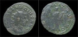 Claudius Gothicus Billon Antoninianus Libertas Standing Left - 5. The Military Crisis (235 AD To 284 AD)