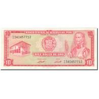 Billet, Pérou, 10 Soles De Oro, 1973, 1973-05-24, KM:100c, SPL+ - Peru