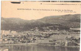 MONTE CARLO - MONACO - Vue Sur La Condamine Et Le Quartier De Ste Dévote - 2 Scans - Monte-Carlo