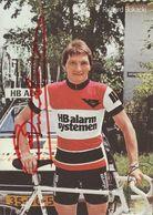 CARTE CYCLISME RICHARD BUKACKI SIGNEE TEAM HB ALARM 1979 ( VOIR PHOTO DEL ANNONCE ) - Radsport