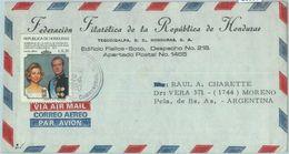 86080 -  HONDURAS -  POSTAL HISTORY -  Airmail COVER To ARGENTINA 1980 - Spanish  ROYALTY - Honduras