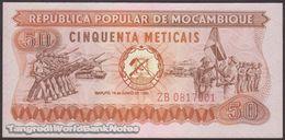 TWN - MOZAMBIQUE 125 - 50 Meticais 16.6.1980 Replacement ZB UNC - Mozambique