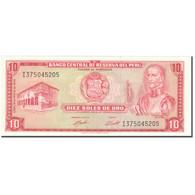 Billet, Pérou, 10 Soles De Oro, 1974, 1974-05-16, KM:100c, SPL+ - Peru