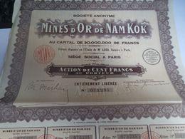ACTION MINES D OR DE NAM KOK - Mines