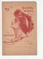 PARTITION BAISERS PERDUS Valse Boston G. MILLANDY Et Maria ROSSET - Spartiti