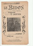 PARTITION LE BIDON Chanson Marche Composée Sur Le Front Par Deux Poilus - Spartiti