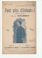 PARTITION FAUT PLUS D'ENFANTS ! Par DALBRET De DARIS DAHL Et GAUWIN - Spartiti