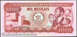 TWN - MOZAMBIQUE 128 - 1000 1.000 Meticais 16.6.1980 Low Serial 000XXXX - Prefix AA UNC - Mozambique