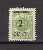 Memelgebiet - 1923 - Michel Nr. 185 - Ungebr. O. Gummi - Memelgebiet