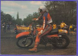 Carte Postale Motocross Enduro Le Pilote Graham Noyce Sur Honda 500 à Thouars En 1979   Très Beau Plan - Motociclismo