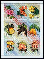 Comoro Isl.(Comores)-1994, Mi.1043-1051), Mushrooms, Flowers, Fruits, MNH** - Pilze