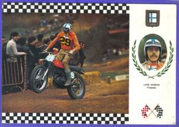 Carte Postale Motocross Enduro Le Pilote Finlandais  Lars Ohberg Sur Montesa 33cv   Très Beau Plan - Motociclismo