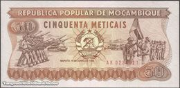 TWN - MOZAMBIQUE 129b - 50 Meticais 16.6.1986 Prefix AK UNC - Moçambique