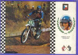 Carte Postale Motocross Enduro Le Pilote Tchècoslovaque  Jaroslav Falta Sur CZ 31,5 Cv   Très Beau Plan - Motociclismo