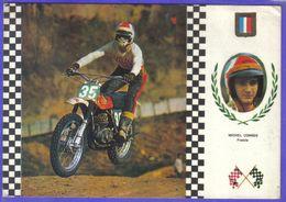 Carte Postale Motocross Enduro Le Pilote Français  Michel Combes  Sur Montesa 32,5 Cv  Très Beau Plan - Motociclismo