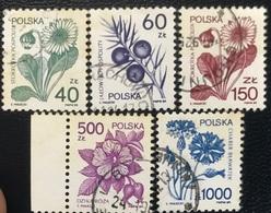 Polska - Poland - Polen - P1/3 - (°)used - 1989 - Geneeskrachtige Planten - Michel Nr.3214-3215-3235-3245-3246 - Gebraucht