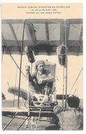 Cpa.Reims.semaine D'aviation De Champagne ( Du 22 Au 29 Aout 1909)..Sommer Sur Son Biplan Farman...animée... - Aviateurs