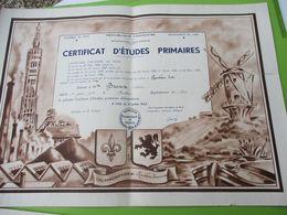 Diplôme Scolaire/Certificat Etudes Primaires/Académie De LILLE/Roubaix-Tourcoing/Dépt Du Nord/Broux Thérése/1946  DIP249 - Diploma & School Reports