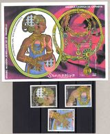 SOMALIA, 1997 - SERIE + FOGLIETTO, SET + SOUVENIR SHEET - GIOIELLI ARABI - JEWELRY - BDF MNH** - Somalie (1960-...)