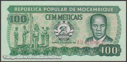 TWN - MOZAMBIQUE 130a2 - 100 Meticais 16.6.1983 Prefix AQ UNC - Moçambique