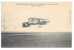 Cpa.Reims.semaine D'aviation De Champagne (journée Du 29 Aout 1909)...Rougier En Plein Vol... - Aviateurs