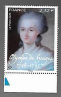 France 2020 - Olympe De Gouges ** (Alexandre Kucharski) - Unused Stamps