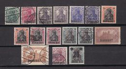 Saargebiet - 1920/21 - Michel Nr. 32/37 + 40 + 42 + 44 + 50 - Gestempelt/Ungebr. O. Gummi - 1920-35 Saargebiet – Abstimmungsgebiet