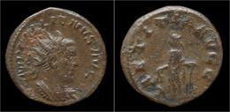 Gallienus Billon Antoninianus Laetitia Standing Left - 5. The Military Crisis (235 AD To 284 AD)