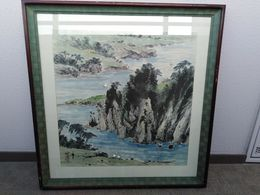 Antique Korea Water Color Big Size - Asian Art