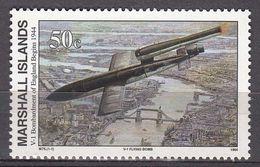 Marshall Islands 1994 WO II V-1 Bombardment Of England Begins 1944  Michel 521  MNH 28077 - Marshall