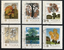 Polska - Poland - Polen - P1/3 - (°)used - 1978 - Natuurbescherming : Bomen - Michel Nr. 2569#2574 - 1944-.... Republic
