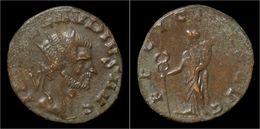 Claudius II Gothicus Billon Antoninianus Felicitas Standing Lef - 5. The Military Crisis (235 AD To 284 AD)