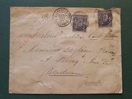 Basses Pyrénées. Enveloppe Chargée. St Jean Pied De Port - Poststempel (Briefe)